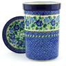 8-inch Stoneware Wine Chill with Saucer - Polmedia Polish Pottery H4082G