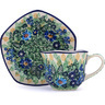 8 oz Stoneware Cup with Saucer - Polmedia Polish Pottery H3695G