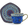 8 oz Stoneware Cup with Saucer - Polmedia Polish Pottery H4936G