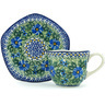 8 oz Stoneware Cup with Saucer - Polmedia Polish Pottery H5073H