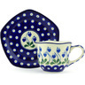 8 oz Stoneware Cup with Saucer - Polmedia Polish Pottery H6001G