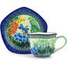 8 oz Stoneware Cup with Saucer - Polmedia Polish Pottery H6047G