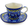 8 oz Stoneware Cup with Saucer - Polmedia Polish Pottery H8339J