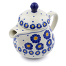 8 oz Stoneware Pitcher with Lid - Polmedia Polish Pottery H2841J