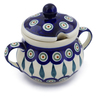 8 oz Stoneware Sugar Bowl - Polmedia Polish Pottery H4449J