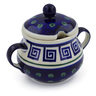 8 oz Stoneware Sugar Bowl - Polmedia Polish Pottery H4456J