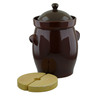 838 oz Stoneware Fermenting Crock Pot with Weight - Polmedia Polish Pottery H2653I
