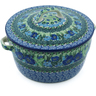 9-inch Stoneware Baker with Cover with Handles - Polmedia Polish Pottery H0393G
