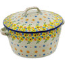 9-inch Stoneware Baker with Cover with Handles - Polmedia Polish Pottery H2999K