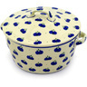 9-inch Stoneware Baker with Cover with Handles - Polmedia Polish Pottery H4262D