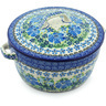9-inch Stoneware Baker with Cover with Handles - Polmedia Polish Pottery H4367H