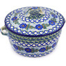 9-inch Stoneware Baker with Cover with Handles - Polmedia Polish Pottery H6256F