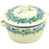9-inch Stoneware Baker with Cover with Handles - Polmedia Polish Pottery H6333D