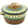 9-inch Stoneware Baker with Cover with Handles - Polmedia Polish Pottery H7052F