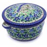 9-inch Stoneware Baker with Cover with Handles - Polmedia Polish Pottery H7147A