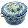9-inch Stoneware Baker with Cover with Handles - Polmedia Polish Pottery H9287A