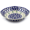 9-inch Stoneware Bowl with Holes - Polmedia Polish Pottery H8780E