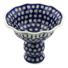 9-inch Stoneware Bowl with Pedestal - Polmedia Polish Pottery H5052C