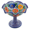 9-inch Stoneware Bowl with Pedestal - Polmedia Polish Pottery H5193J