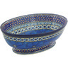 9-inch Stoneware Bowl with Pedestal - Polmedia Polish Pottery H6940G
