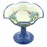 9-inch Stoneware Bowl with Pedestal - Polmedia Polish Pottery H7949C