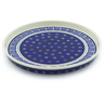 9-inch Stoneware Cookie Platter - Polmedia Polish Pottery H4387J