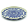 9-inch Stoneware Cookie Platter - Polmedia Polish Pottery H4417J