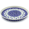 9-inch Stoneware Cookie Platter - Polmedia Polish Pottery H4425J