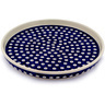 9-inch Stoneware Cookie Platter - Polmedia Polish Pottery H9824C