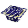 9-inch Stoneware Dish with Cover - Polmedia Polish Pottery H1085D