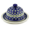 9-inch Stoneware Dish with Cover - Polmedia Polish Pottery H3825F