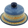 9-inch Stoneware Dish with Cover - Polmedia Polish Pottery H5527A