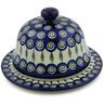 9-inch Stoneware Dish with Cover - Polmedia Polish Pottery H7158A