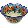 9-inch Stoneware Fluted Bowl - Polmedia Polish Pottery H0836H