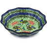 9-inch Stoneware Fluted Bowl - Polmedia Polish Pottery H2212H