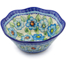 9-inch Stoneware Fluted Bowl - Polmedia Polish Pottery H3506H