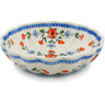 9-inch Stoneware Fluted Bowl - Polmedia Polish Pottery H4025D