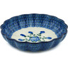 9-inch Stoneware Fluted Bowl - Polmedia Polish Pottery H4419A