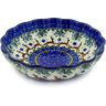 9-inch Stoneware Fluted Bowl - Polmedia Polish Pottery H8708A