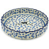 9-inch Stoneware Fluted Pie Dish - Polmedia Polish Pottery H1713H
