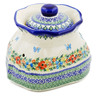 9-inch Stoneware Garlic and Onion Jar - Polmedia Polish Pottery H0395K