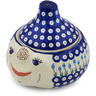 9-inch Stoneware Garlic and Onion Jar - Polmedia Polish Pottery H0763H