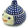9-inch Stoneware Garlic and Onion Jar - Polmedia Polish Pottery H0764H