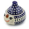 9-inch Stoneware Garlic and Onion Jar - Polmedia Polish Pottery H7068E
