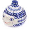 9-inch Stoneware Garlic and Onion Jar - Polmedia Polish Pottery H7874G
