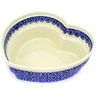9-inch Stoneware Heart Shaped Bowl - Polmedia Polish Pottery H1198D