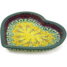 9-inch Stoneware Heart Shaped Platter - Polmedia Polish Pottery H2236K
