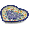 9-inch Stoneware Heart Shaped Platter - Polmedia Polish Pottery H2438K