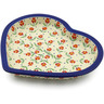 9-inch Stoneware Heart Shaped Platter - Polmedia Polish Pottery H2588K