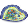 9-inch Stoneware Heart Shaped Platter - Polmedia Polish Pottery H3573G